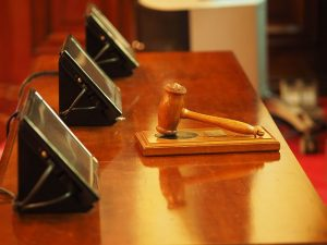 gavel inside the courtroom