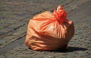 garbage plastic full of waste