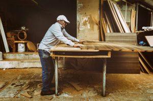 man customizing a furniture