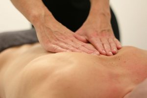 back of the patient of a Patient getting a treatment from a Norwest Chiropractor