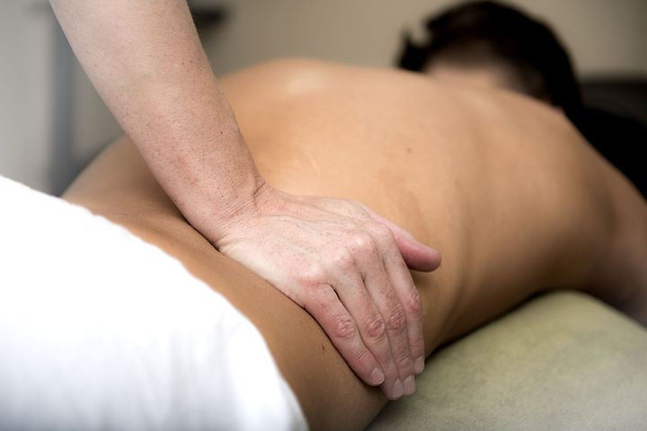 Patient getting a treatment from a Norwest Chiropractor