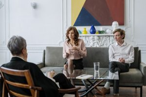 Couple attending family mediation proceeding in Sydney